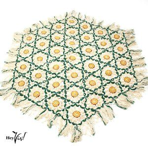 "Vintage Open Weave Doily - 18"" - Colorful Accent"